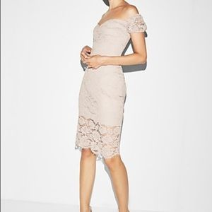 NWT Off the shoulder lace sheath dress